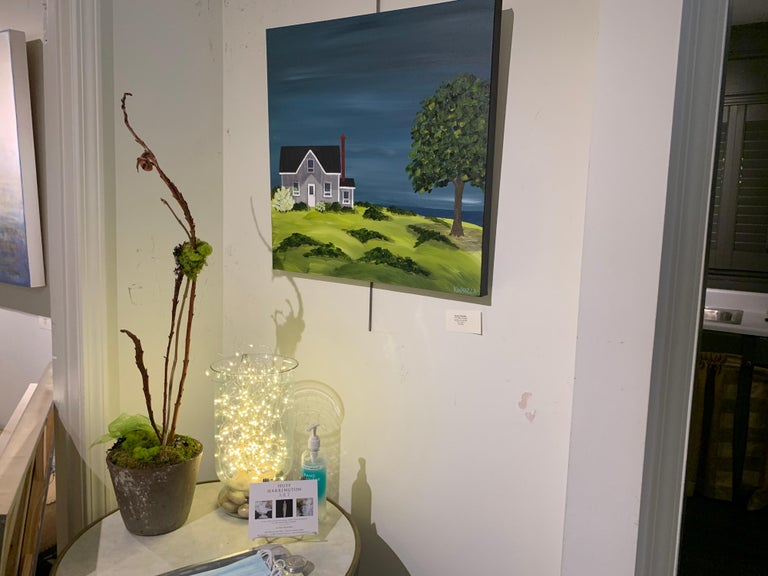 The Olde Cottage by Susan Kinsella, Landscape Acrylic on Canvas Painting For Sale 1