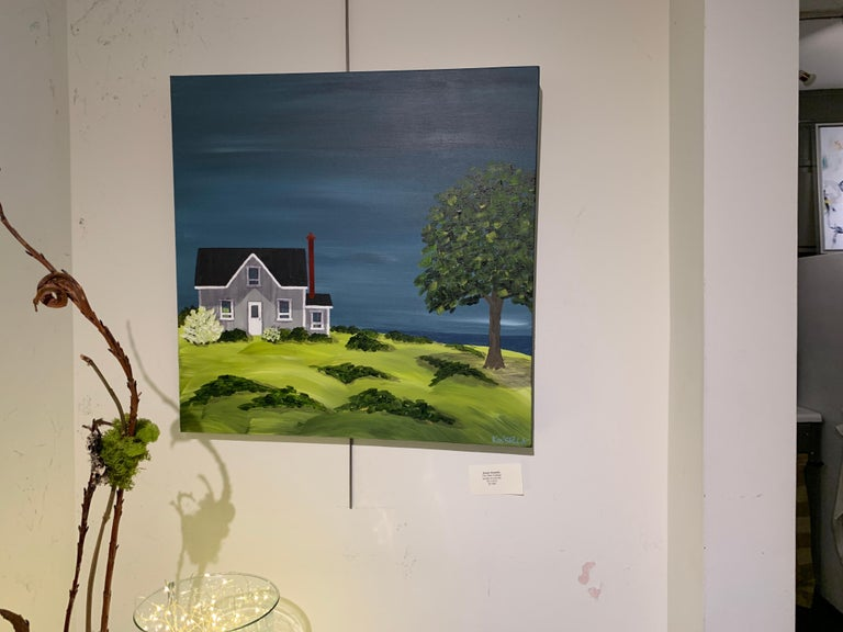 The Olde Cottage by Susan Kinsella, Landscape Acrylic on Canvas Painting For Sale 2