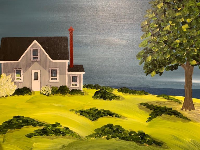 The Olde Cottage by Susan Kinsella, Landscape Acrylic on Canvas Painting For Sale 4