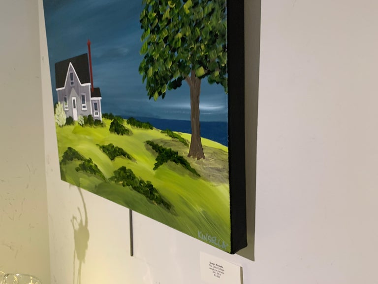 The Olde Cottage by Susan Kinsella, Landscape Acrylic on Canvas Painting For Sale 6