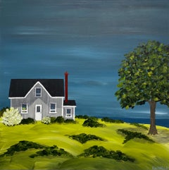 The Olde Cottage by Susan Kinsella, Landscape Acrylic on Canvas Painting