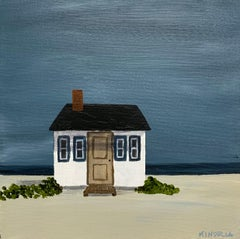 Tiny Cottage by Susan Kinsella, Beachscape Acrylic on Canvas Painting