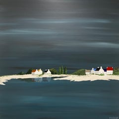 Tranquil Village by Susan Kinsella, Medium Size Contemporary Landscape Painting