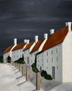 Vieux Village by Susan Kinsella, Acrylic on Canvas Contemporary Houses Painting