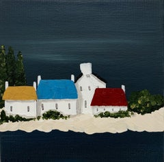 Village IV by Susan Kinsella, Petite Acrylic Contemporary Coastal Painting