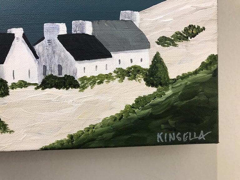 Village of Joy, Susan Kinsella Contemporary Acrylic Coastal Landscape Painting For Sale 2