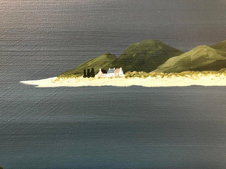 Village of Joy, Susan Kinsella Contemporary Acrylic Coastal Landscape Painting For Sale 4