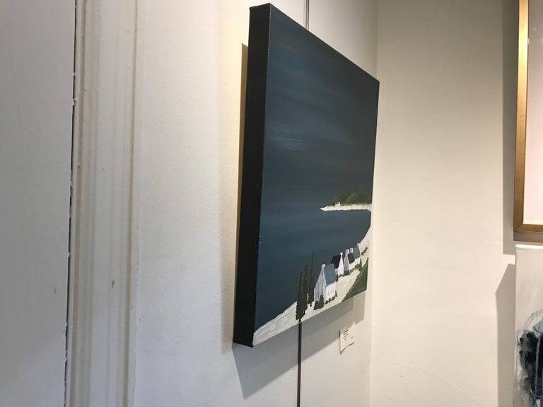 Village of Joy, Susan Kinsella Contemporary Acrylic Coastal Landscape Painting For Sale 6