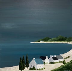 Village of Joy, Susan Kinsella Contemporary Acrylic Coastal Landscape Painting