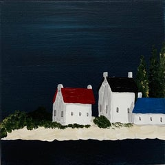 Village VI by Susan Kinsella, Petite Contemporary Acrylic Coastal Painting