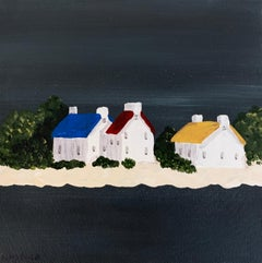 Village VII by Susan Kinsella, Small Acrylic Contemporary Coastal Painting