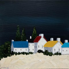 Village VIII by Susan Kinsella, Small Acrylic Contemporary Coastal Painting