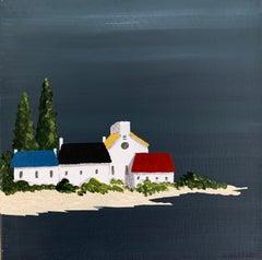 Village XI by Susan Kinsella, Small Acrylic Contemporary Coastal Painting