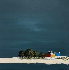 Village XII by Susan Kinsella, Small Acrylic Contemporary Coastal Painting