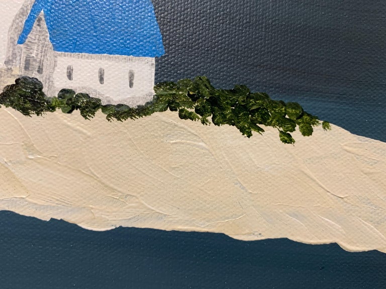 Village XIV by Susan Kinsella, Small Acrylic Contemporary Coastal Painting For Sale 3