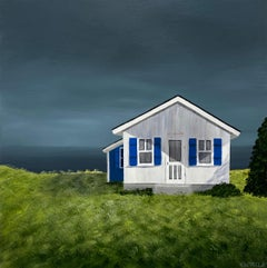Welcome Cottage Susan Kinsella, Square Landscape Acrylic on Canvas Painting