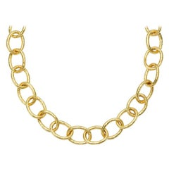 Susan Lister Locke Large Link Hand Hammered Chain in 18kt Gold