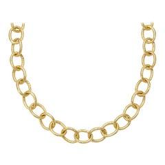 Susan Lister Locke Medium Link Hand Hammered Chain in 18kt Gold
