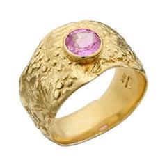 Susan Lister Locke Pink Sapphire Set in 18kt Gold Seascape Band