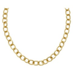 Susan Lister Locke Small Link Hand Hammered Chain in 18kt Gold