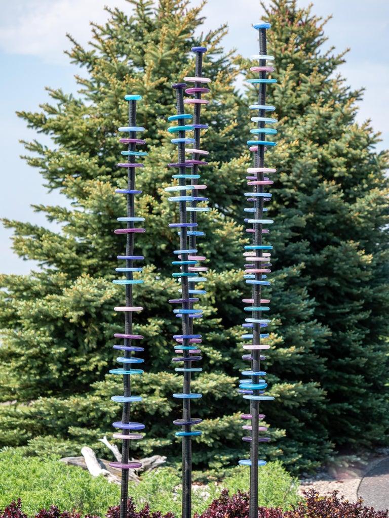 Violet Glow - Sculpture by Susan Rankin