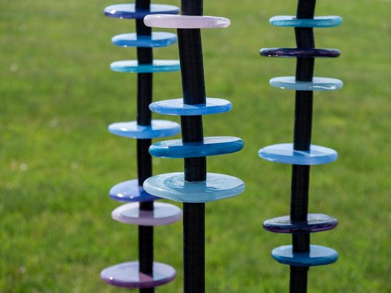 Violet Glow - Contemporary Sculpture by Susan Rankin
