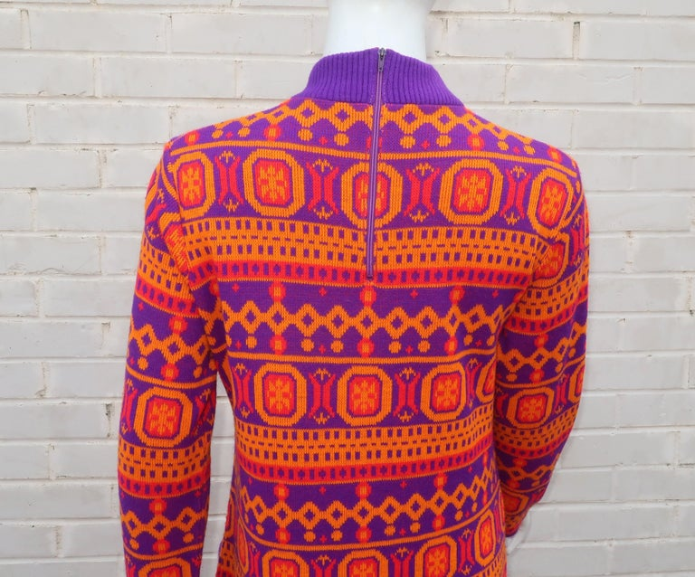 Susan Small English Mod Maxi Sweater Dress, 1970's For Sale 6