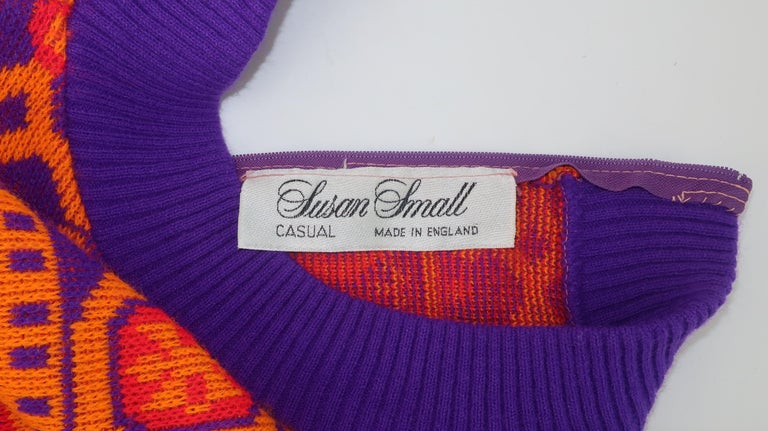 Susan Small English Mod Maxi Sweater Dress, 1970's For Sale 7