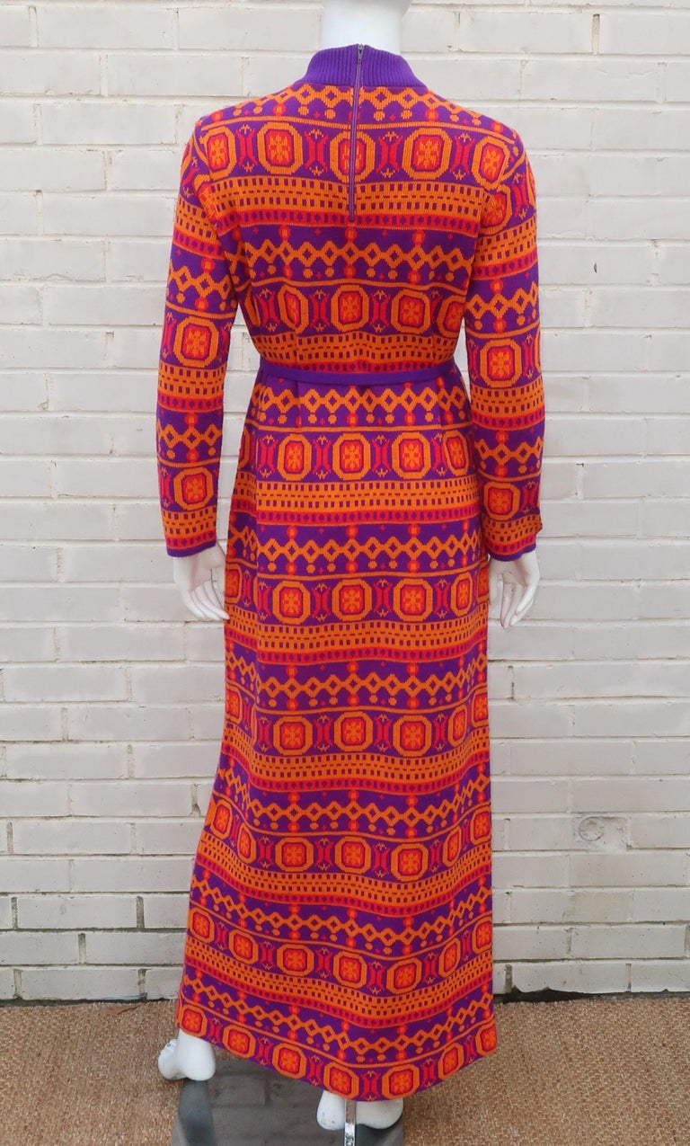 Susan Small English Mod Maxi Sweater Dress, 1970's For Sale 1