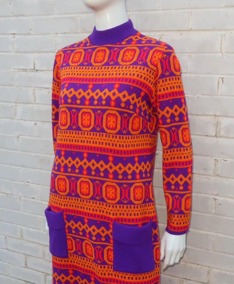 Susan Small English Mod Maxi Sweater Dress, 1970's For Sale 4