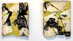 Susan Stair, Gold in Birch and Gold on Birch, 2016, Clay, Stoneware, Gold Leaf