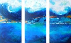 Crashing Waves, Painting, Acrylic on Canvas