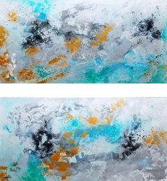 Hemisphere's Diptych, Painting, Acrylic on Canvas