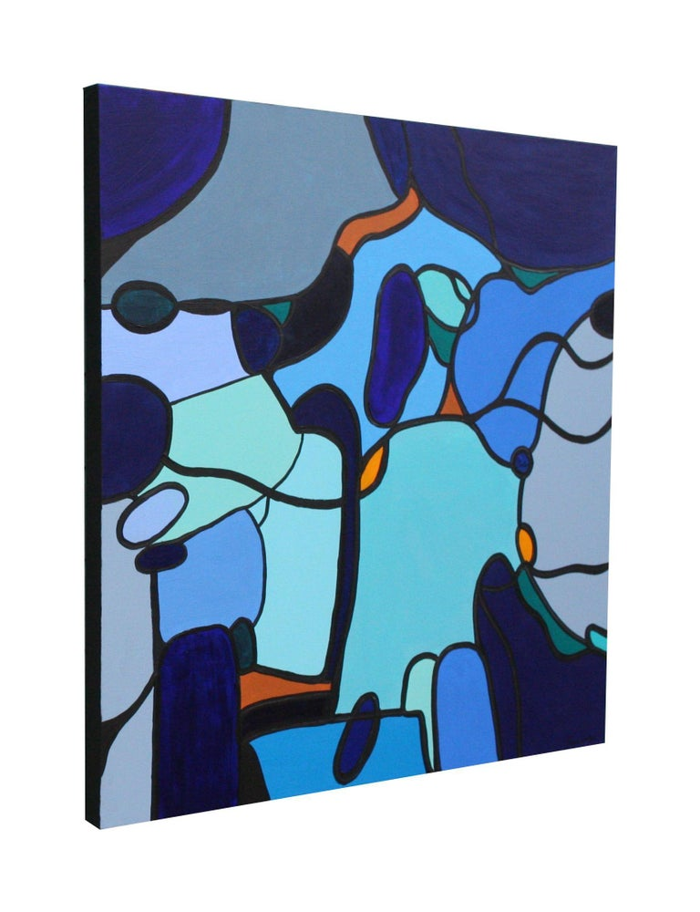 Abstract Large Painting Homeward Bound Multicoloured Colourful Abstract Painting/Modern Contemporary abstract Painting    90 x 90 cms (35