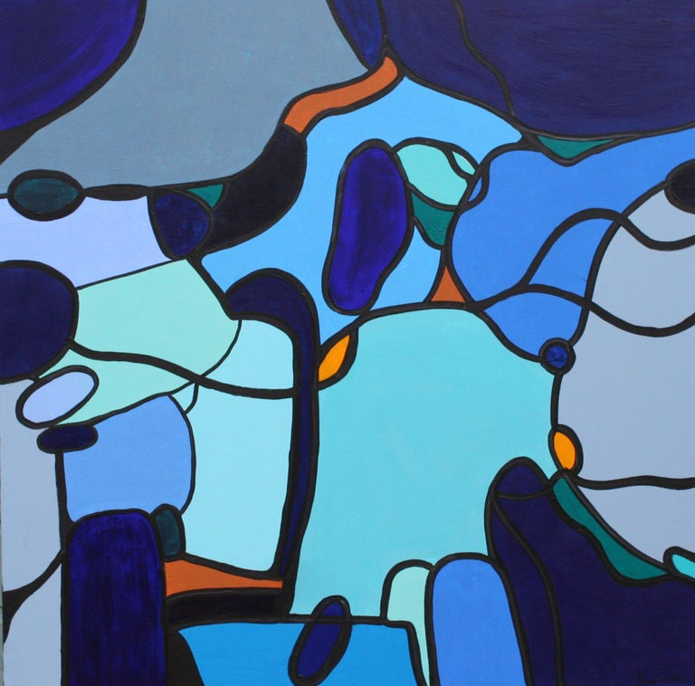 Susan Wooler Abstract Painting - Homeward Bound, Painting, Acrylic on Canvas