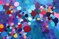 Rainbow Shower, Painting, Acrylic on Canvas