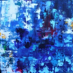 XL Free As A Bird 90 x 90 cm Textured Abstract, Painting, Acrylic on Canvas