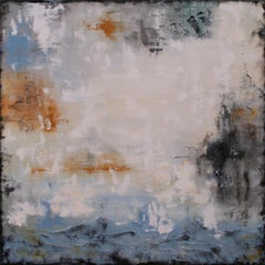 XL Holding Back The Tide 80 x 80 cm Textured, Painting, Acrylic on Canvas