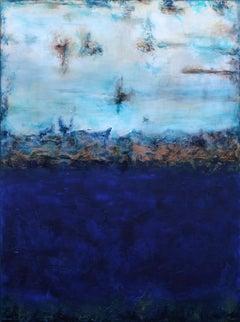 "XXL Serenity 122 x 91 (48"" x 36"") Textured Art, Painting, Acrylic on Canvas"