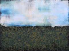 XXL Through The Mist of Fall Textured Abstract, Painting, Acrylic on Canvas