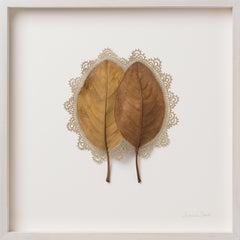 Everything That Surrounds Us II -Intricate contemporary crochet leaf nature art