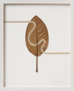 Path V - intricate contemporary embroidered leaf nature art