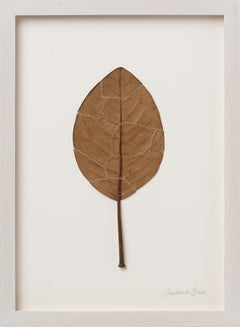 Seams  - Intricate contemporary embroidered leaf nature art