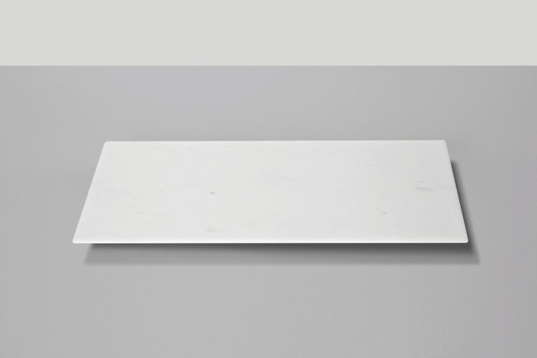 Sushi Tray in White Michelangelo Marble by Ivan Colominas, Italy In New Condition For Sale In Milan, IT