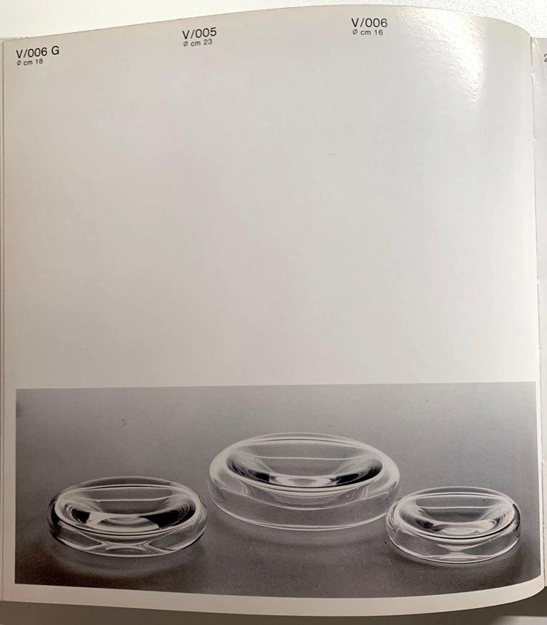 Suspended Clear Glass Bowl by Alfredo & Flavio Barbini for Barbini Murano, 1972 For Sale 3