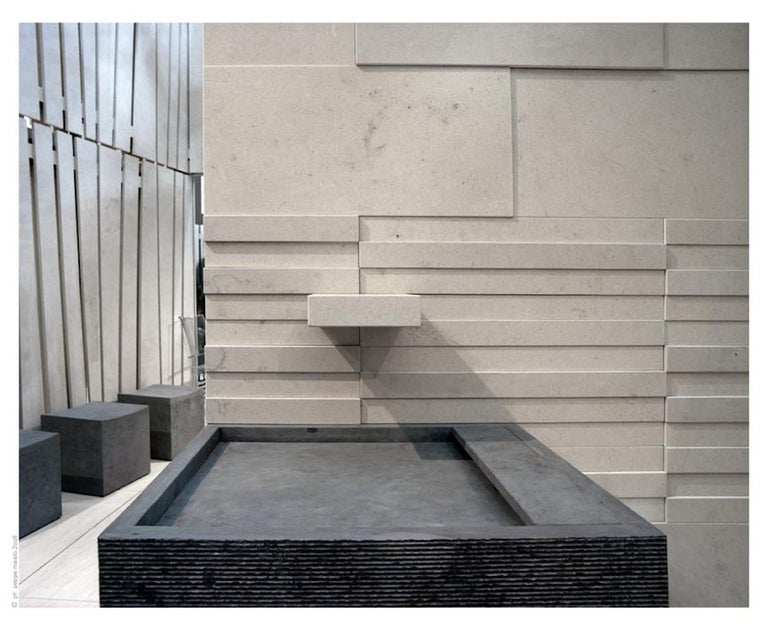 Suspended Fukuoka 120 Sink Made of Marble Customizable In New Condition For Sale In Beverly Hills, CA
