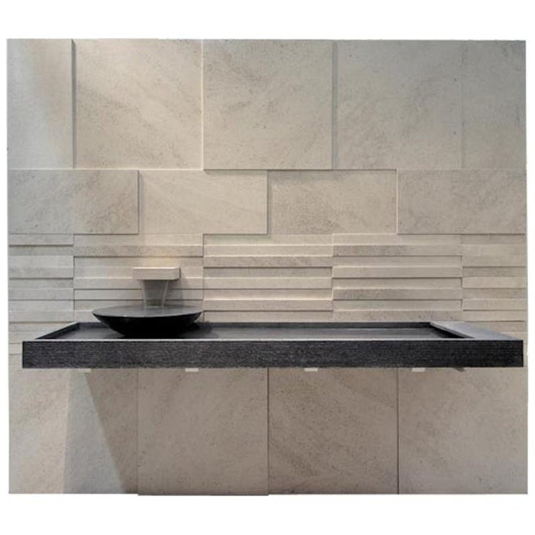 Suspended Fukuoka 120 Sink Made of Marble Customizable For Sale