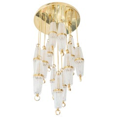 Suspended Glass Cluster Flush Mount