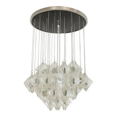 Suspended Glass Element Flush Mount Fixture