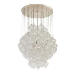Suspended Glass Knop Chandelier